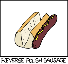 A sausage is sitting to the right of an empty bun.